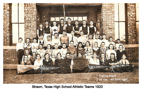Group photograph of Strawn Athletic Teams about 1920